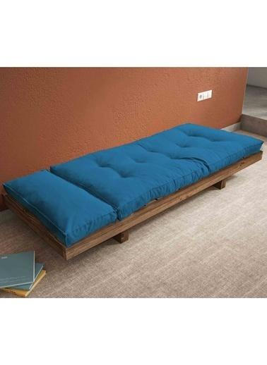 Woodesk Arin Masif Ceviz-Yeşil Renk Sedir Mavi